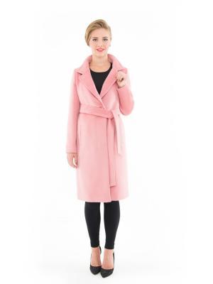 Пальто GallaLady. Цвет: розовый