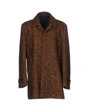 Пальто EXIBIT. Цвет: коричневый