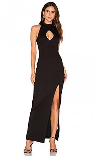 Вечернее платье с ромбовидным вырезом NICHOLAS. Цвет: черный