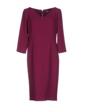 Платье до колена IVAN MONTESI. Цвет: пурпурный