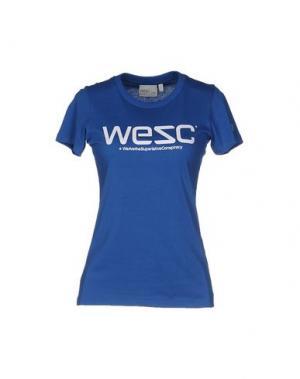 Футболка WESC. Цвет: лазурный