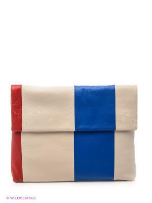 Сумка Pimo Betti. Цвет: бежевый, красный, синий