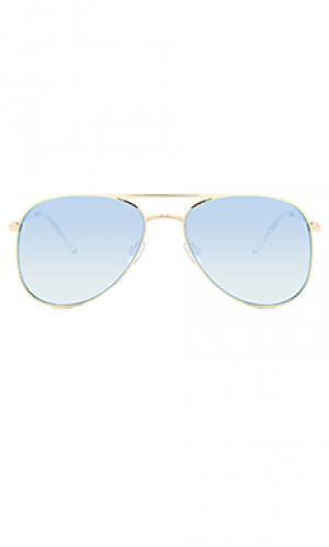 Солнцезащитные очки kingdom Le Specs. Цвет: металлический золотой