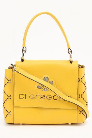 Сумка Di Gregorio. Цвет: желтый