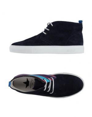Высокие кеды и кроссовки MACCHIA J. Цвет: темно-синий