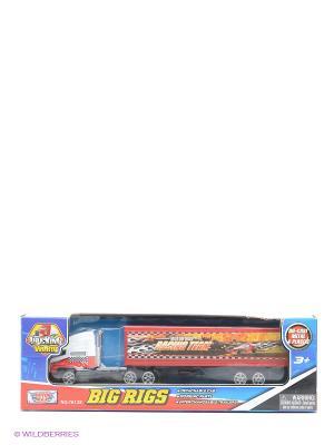 Коллекционная модель грузовика с полуприцепом Motormax. Цвет: красный