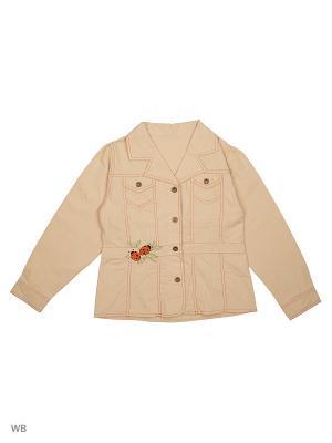 Пиджак жакет ВАЛЕНТИНА СТИЛЬ. Цвет: бежевый, оранжевый