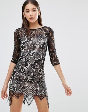 Parisian Кружевное платье. Цвет: темно-синий
