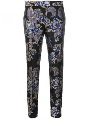 Строгие брюки с жаккардовым узором Christian Pellizzari. Цвет: многоцветный