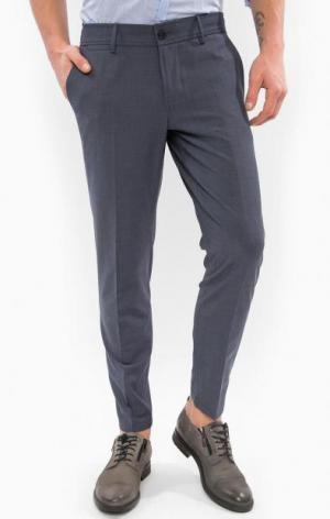 Классические синие брюки DRYKORN. Цвет: синий