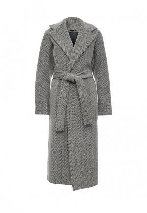 Пальто Uona. Цвет: серый