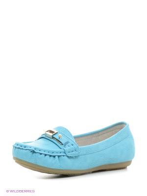 Туфли KENKA. Цвет: голубой
