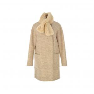 Пальто Capulet, воротник-шарф из искусственного меха RENE DERHY. Цвет: бежевый