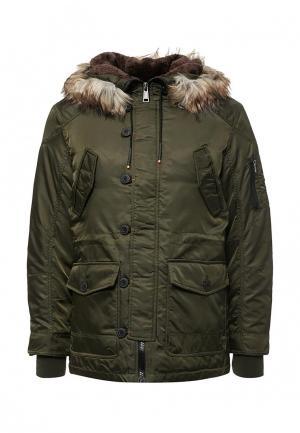 Куртка утепленная MeZaGuz. Цвет: хаки