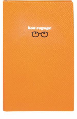 Записная книжка Smythson. Цвет: оранжевый