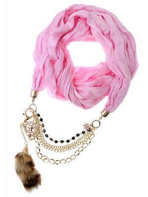 Платок Nina Ford. Цвет: розовый, золотистый