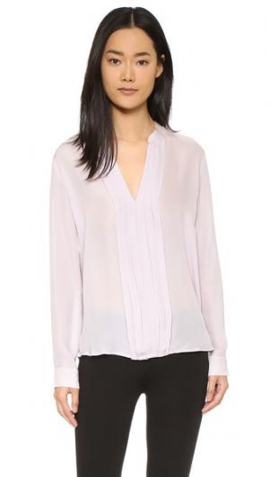 Плиссированная блуза Lauren L'AGENCE. Цвет: светло-сиреневый