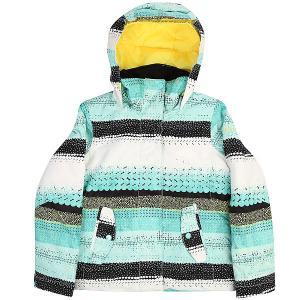 Куртка утепленная детская  Jet Girl Aruba Blue Roxy. Цвет: мультиколор