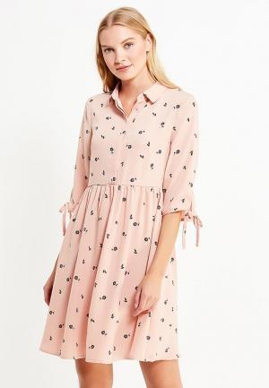 Платье Vero Moda. Цвет: розовый