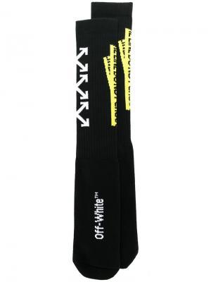 Носки Firetape Off-White. Цвет: чёрный