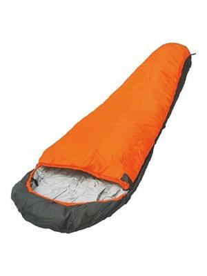 Мешок спальный vivid 300 кокон Чайка. Цвет: серый, оранжевый, серебристый