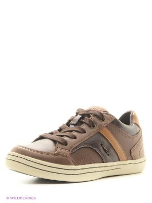 Кроссовки GEOX. Цвет: коричневый, светло-коричневый