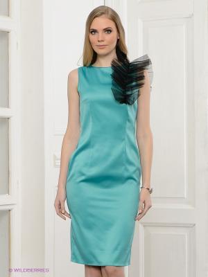 Платье Spicery. Цвет: бирюзовый, черный