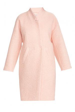 Flashin Пальто из шерсти с вискозой 176553 Flashin'. Цвет: розовый