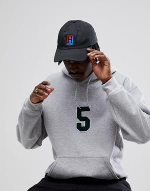 HUF Бейсболка с логотипом. Цвет: черный