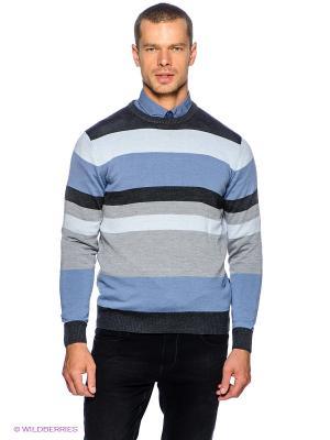 Джемпер GroStyle. Цвет: серый, темно-серый, голубой, светло-голубой
