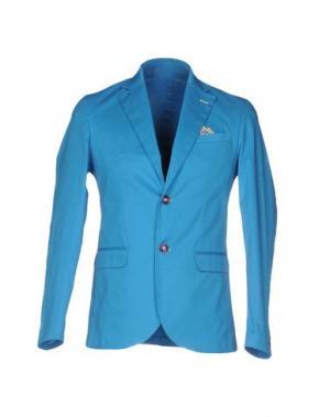 Пиджак ROBERTO PEPE. Цвет: лазурный