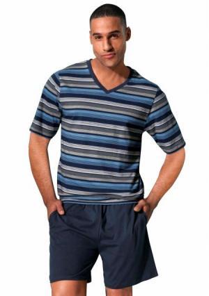 Пижама с шортами H.I.S.. Цвет: темно-синий/лиловый
