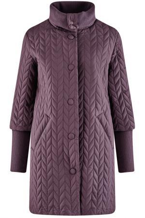 Пальто oodji. Цвет: темно-фиолетовый