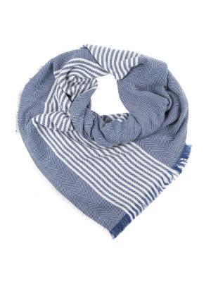 Платок Fabretti. Цвет: синий, белый