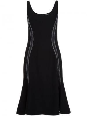 Платье с декоративным швом Altuzarra. Цвет: чёрный