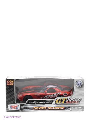 Машина 1к24 GT Racing  2003 Dodge Viper SRT10 Motormax. Цвет: красный, черный