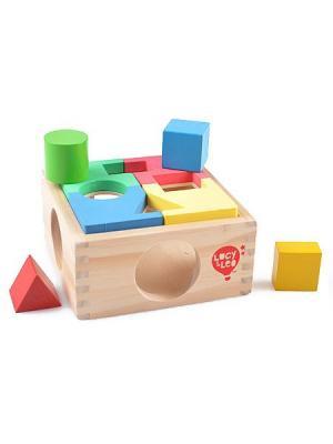 Занимательная коробка LUCY&LEO. Цвет: светло-зеленый, голубой, бежевый
