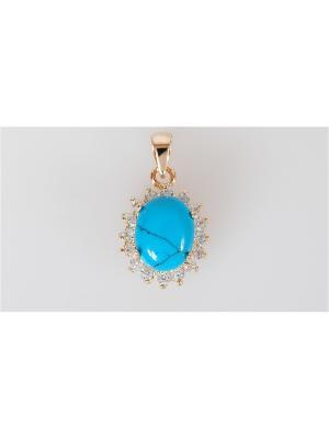 Кулон Lotus Jewelry. Цвет: золотистый, синий