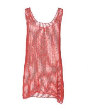Короткое платье DONDUP. Цвет: красный