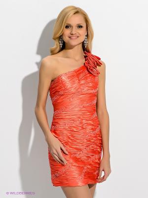 Платье X'Zotic. Цвет: коралловый