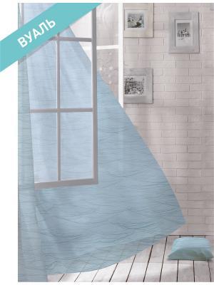 Комплект штор (2 шт.) Волшебная ночь, 150см*270см, ткань-Вуаль,  стиль-ЛОФТ, OCEAN ночь. Цвет: голубой