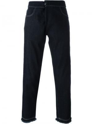 Звуженные  джинсы Mow. Цвет: синий