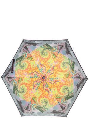 Зонт Labbra. Цвет: желтый, зеленый, серый