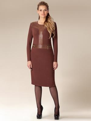 Платье Amelia Lux. Цвет: коричневый
