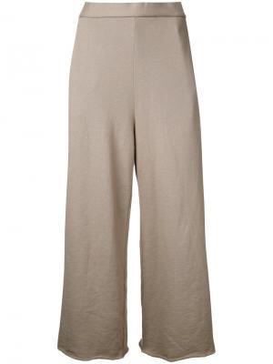 Укороченные широкие брюки Cityshop. Цвет: зелёный