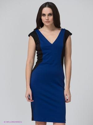 Платье BSB. Цвет: черный, темно-синий