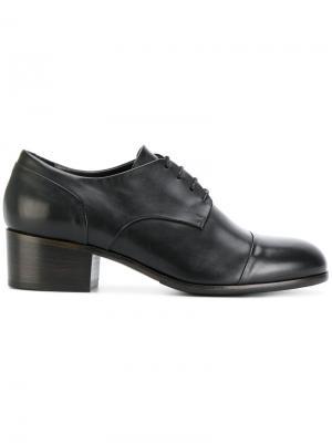 Туфли Оксфорды на каблуке Ink. Цвет: чёрный