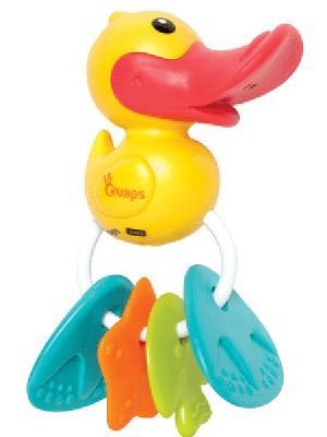 Игрушка с прорезываетлями OUAPS. Цвет: желтый (осн.)