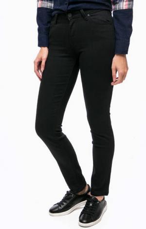 Черные брюки из денима Lee. Цвет: черный