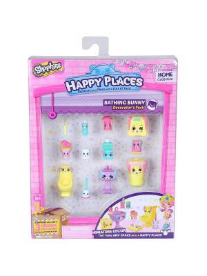Игровой набоор для декора Happy Places Петкинс  Кролики ванной Moose. Цвет: розовый